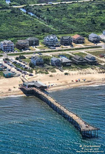 outerbanksfishingpier nagshead outerbanks fishingpier capehatterasnationalseashore obx aerialview marshes dunes sanddunes northcarolina nc outerbanksnorthcarolina seashore albemarlesound