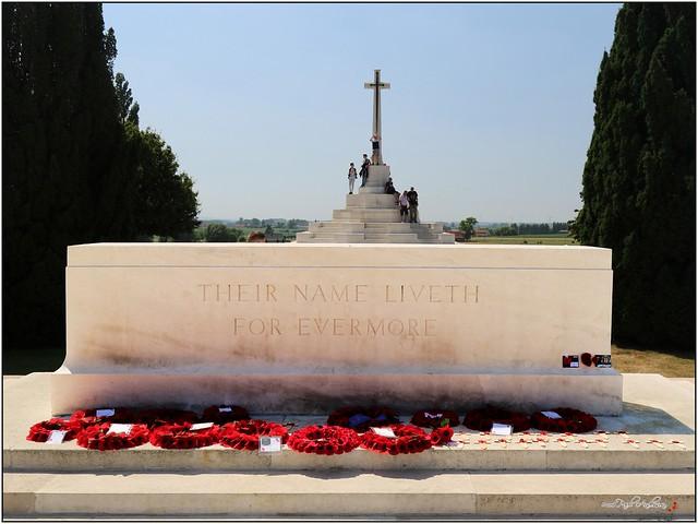 Tyne Cot Military Cemetery - Memorial Stone & Cross