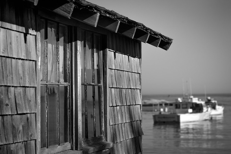 coastal shack, lobster boats, Spruce Head, Maine, Nikon D3300, mamiya sekor 80mm f-2.8, 7.20.18