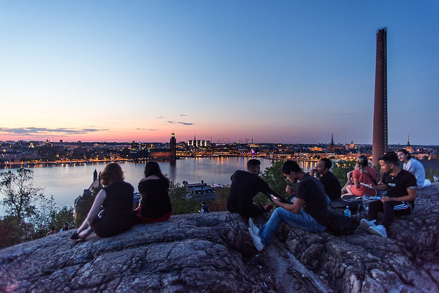 Night view in Stockholm