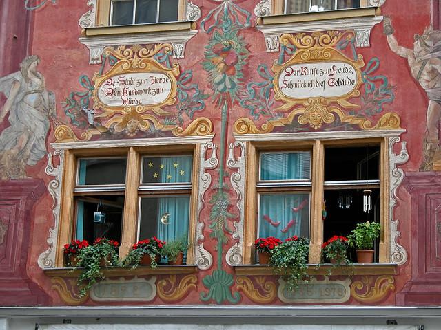 Fassadenmalerei in Chur, Graubünden