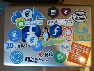 My Laptop after GUADEC