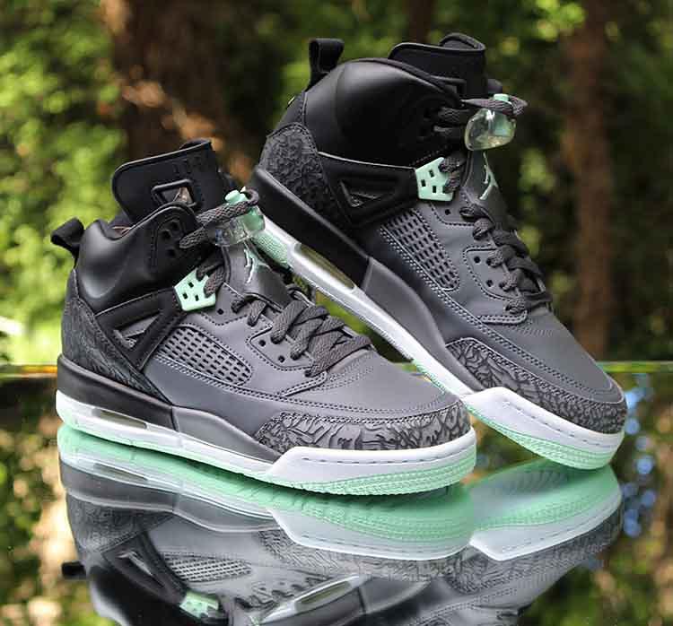 2f55d5338a7b86 ... Jordan Spizike GS Black Mint Foam Grey 535712-015 Size 7Y WMNS 8.5