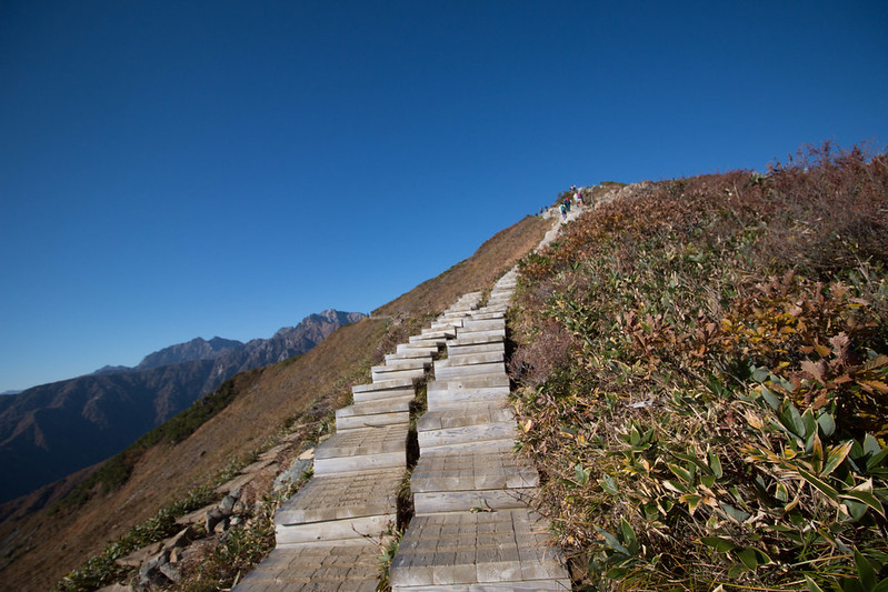唐松岳紅葉登山