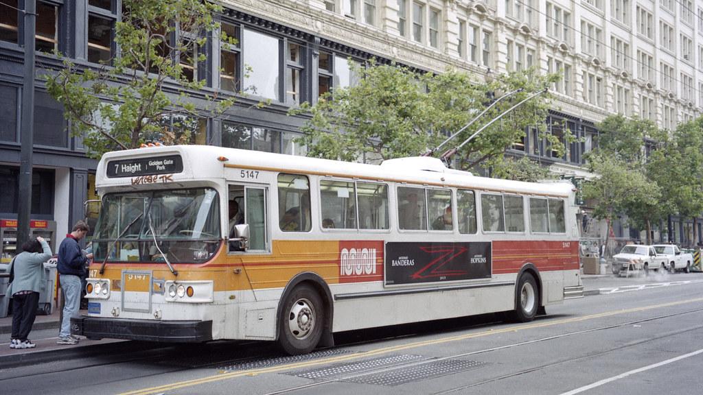 1998-07 San Francisco Trolleybus Nr 5147 | USA - Trolleybus … | Flickr