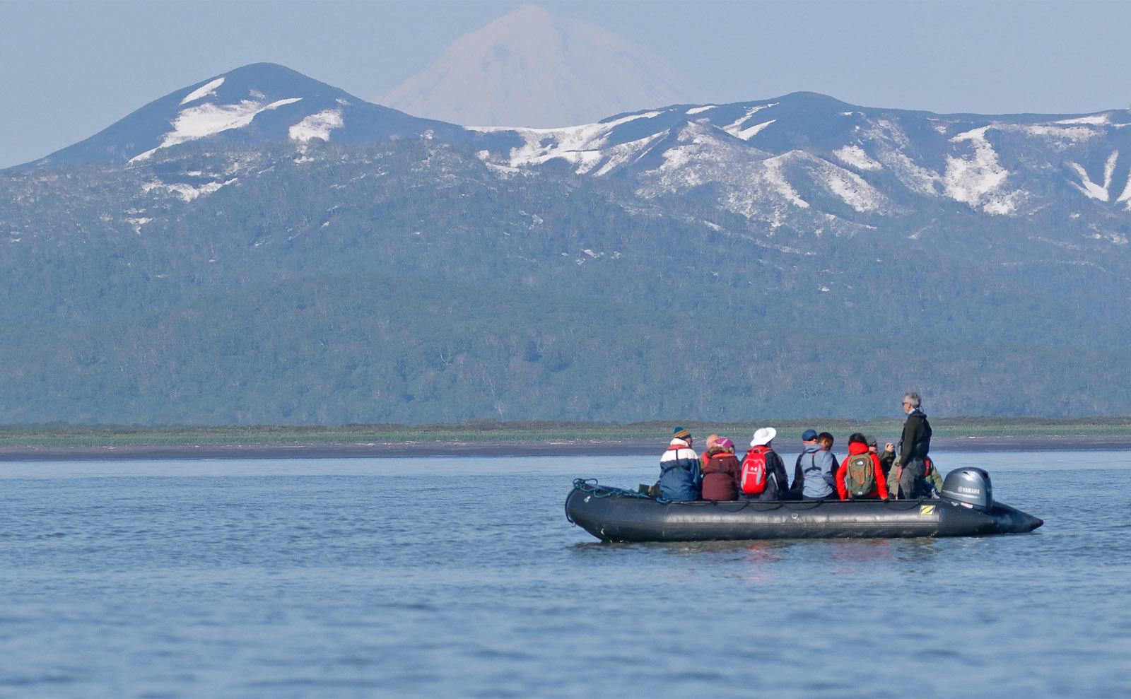 Zodiac Cruising Zhupanova River