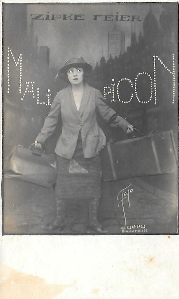 Molly Picon in Zipke Feier (1923) | Romanian postcard  Photo… | Flickr