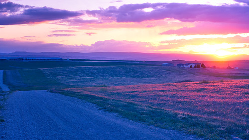 sunset canyoncounty farm field nampa