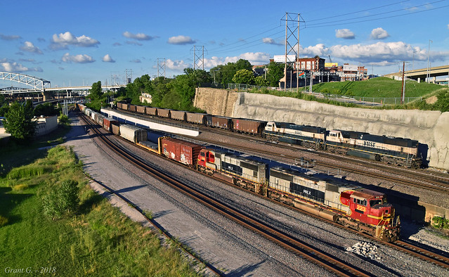KCS and BNSF Trains in Kansas City, MO