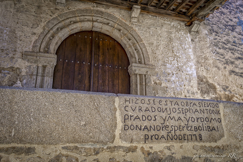 Entrada de la Iglesia de San Lorenzo Mártir