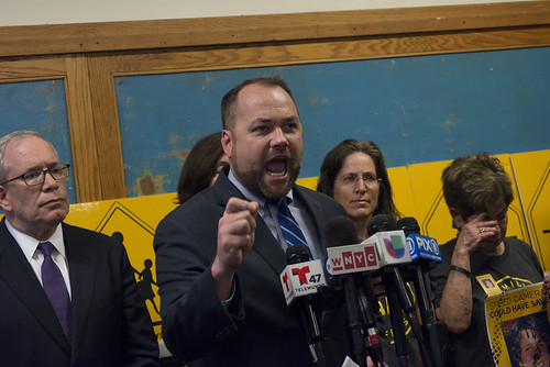 Council Speaker Corey Johnson and Council Member Brad Lander call on Albany to restore speed cameras -- credit Jeff Reed 5 | by New York City Council