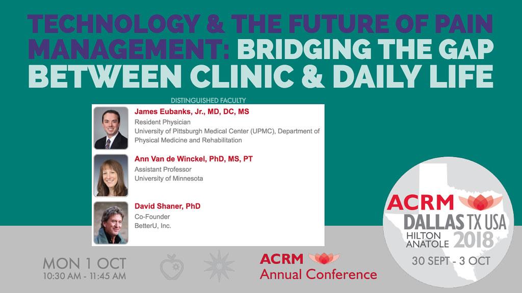 ACRM Conference Pain Rehabilitation & Lifestyle Medicine s