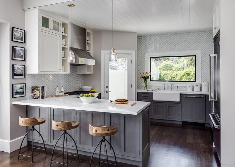 Cucine moderne bianche e grigie: più di 20 disegni ispirat ...