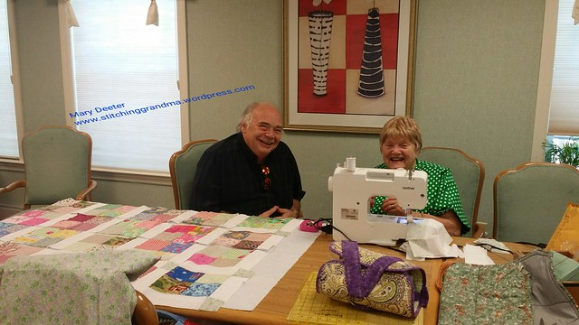 Quilting at Brandywine Assisted Living