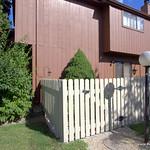 Fenced in patio area