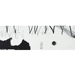 Tori no saezuri (2018) Acrylic on plywood, charcoal, pencil 470x100x30mm