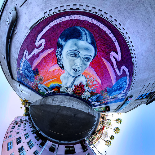 Dolores Del Río Mural Little Planet   by @TanjaB