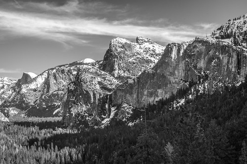 Black & White Yosemite NP Fine Art!  B&W Yosemite National Park Winter Snow Landscape Photography! El Capitan Half Dome! Sony A7R II Mirrorless & Carl Zeiss Vario-Tessar T* FE 16-35mm f/4 ZA OSS Lens SEL1635Z! Scenic California Winter Elliot McGucken | by 45SURF Hero's Odyssey Mythology Landscapes & Godde