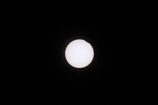 Sunspots, and the First Occclusion - Total Solar Eclipse - August 21st 2017 - Nebraska