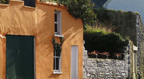 Colored house on the Beara Peninsula in Ireland