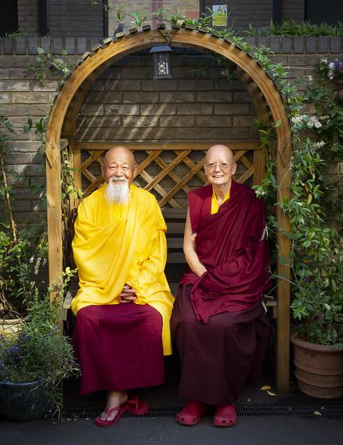 Lama Yeshe Losal Rinpoche, Abbot of Samye Ling Monastery in Scotland & Lama Zangmo from Kagyu Samye Dzong London