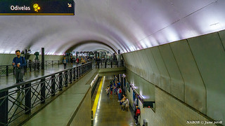 Lisbon Portugal: Rato metro station (Yellow [Linha Amarela] Line)