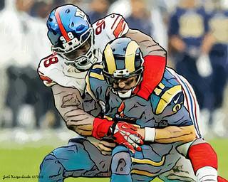 New York Giants Damon Harrison - Los Angeles Rams Case Keenum a