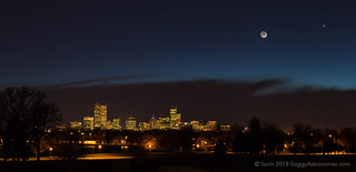 Denver with the Moon & Venus | by SoggyAstro