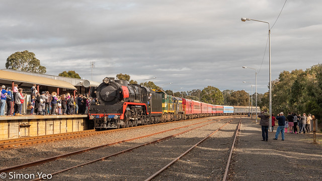 First steam train to Sale in decades