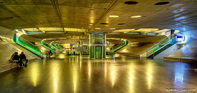 Lisbon, Portugal: Gare do Oriente waiting for the night lights