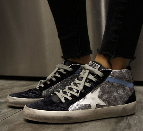 404fe0a7c6d41 ... Golden Goose Mid Star Sneakers for Women in Disco Glitter 💎 and White  Star⭐️