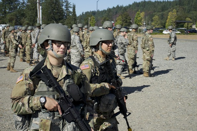 Officer Candidates from 205th RTI activate the Regiment for OCS Phase 3