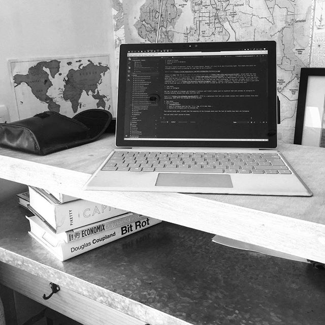 Irony: actually fixing bit rot while supported by Coupland's book #blog