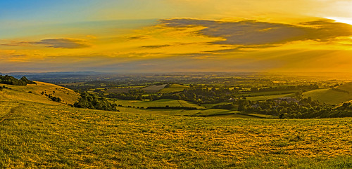 dorset cranborne chase fontmell melbury compton downs chalk hills valley vista landscape sunset view nikon d7200 july summer