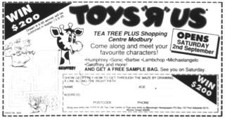"""Toys """"R"""" Us Tea Tree Plus (02/09/1995 - 22/07/2018)"""