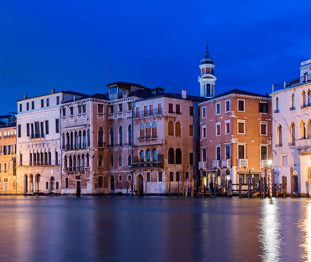 Canal grande in the evening, Venice, Italy