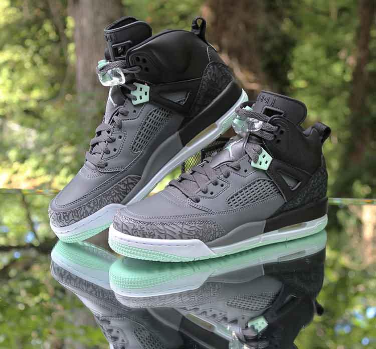 6a707d4cdee7ab ... Jordan Spizike GS Black Mint Foam Grey 535712-015 Size 7Y WMNS 8.5