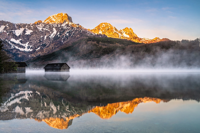 Almsee with morning mist