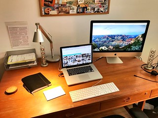 Desk set up - for lefty.