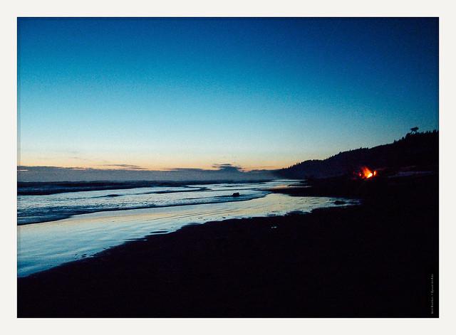 beach the past gently, night