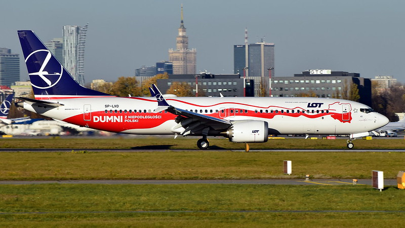 SP-LVD // LOT - Polish Airlines // Boeing 737-8 MAX // EPWA (WAW)