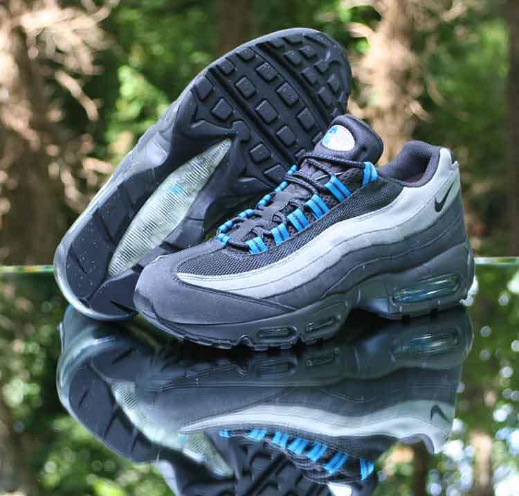 Nike Air Max 95 Anthracite Medium Grey Blue 609048 052 Men