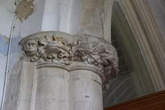capital: bear and foliage (13th Century)