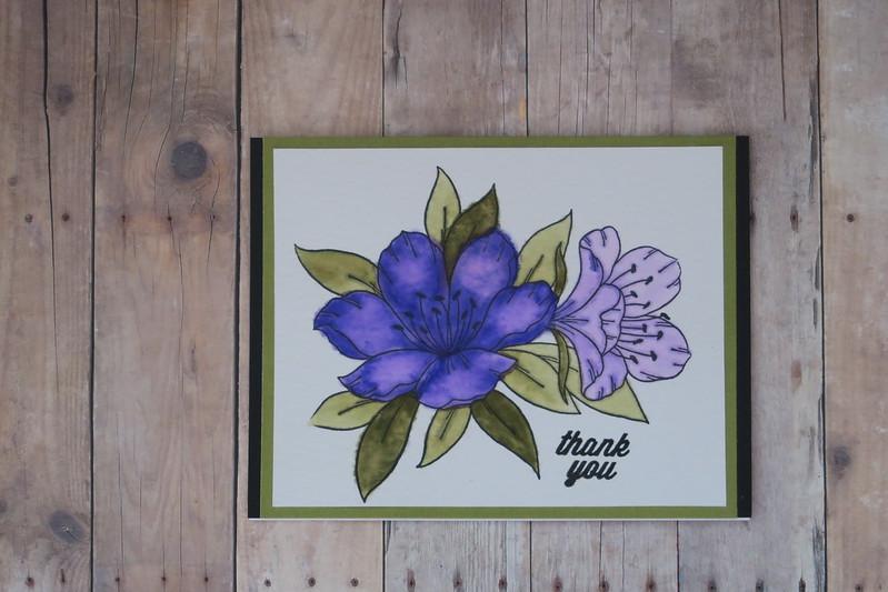 Magenta Flower in Purple