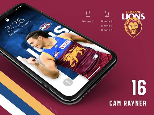 Cam Rayner (Brisbane Lions) iPhone Wallpaper