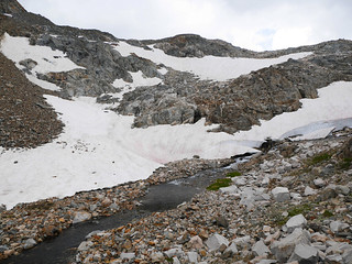 Still some snow in the steep canyon of the Middle Fork of the Kings River below Muir Pass | by snackronym