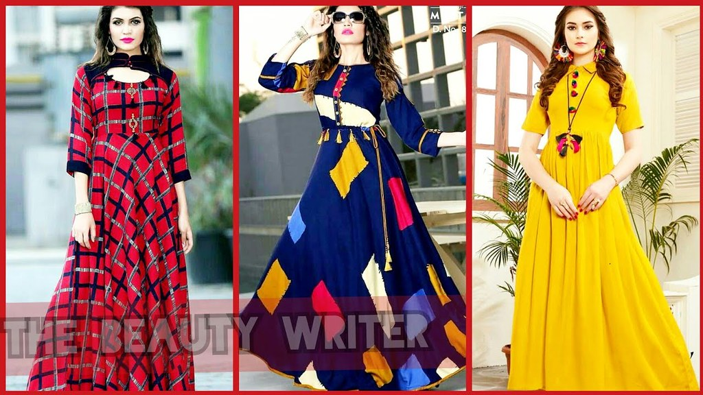 abed70011f3ef ... New Indian & Pakistani long Frocks Dress Designs For Girls 2018-2019 |  by The