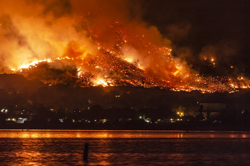 California Wildfires: The Holy Fire At Lake Elsinore On Au