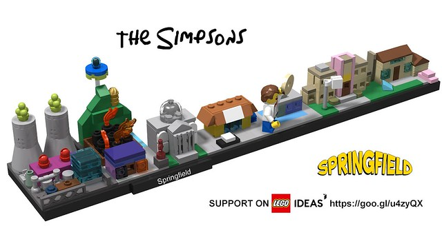 The Simpsons - Springfield Architecture Skyline