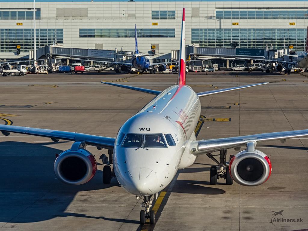 OE-LWQ Austrian Airlines Embraer ERJ-195LR